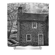 Mcconkey Ferry Inn Black And White Shower Curtain