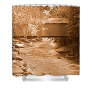 Mcconnells Mill Covered Bridge Sepia Shower Curtain