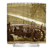 Mccormick Deering Tractor In Sepia Shower Curtain