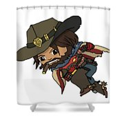 Mccree Usa Shower Curtain