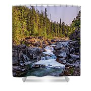 Mcdonald Creek Falls Shower Curtain