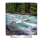 Mcdonald Creek Shower Curtain by Gary Lengyel