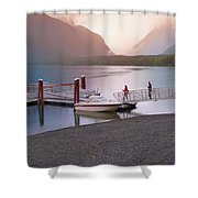 Mcdonald Lake At Dusk Shower Curtain