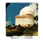 Mcdonald Observatory At Mt. Locke Shower Curtain