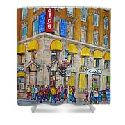 Mcdonald Restaurant Old Montreal Shower Curtain