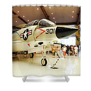 Mcdonnell F3h Demon Shower Curtain