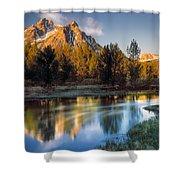 Mcgown Peak Sunrise  Shower Curtain