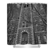 Mcgraw Hall - Bw Shower Curtain