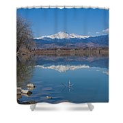 Mcintosh Lake Reflections Shower Curtain