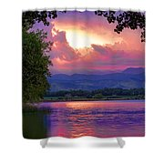 Mcintosh Lake Sunset Shower Curtain