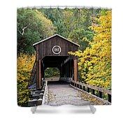 Mckee Bridge In Fall Shower Curtain