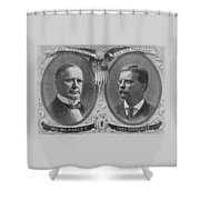 Mckinley And Roosevelt Election Poster Shower Curtain