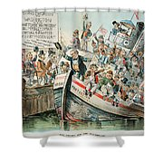 Mckinley Cartoon, 1896 Shower Curtain