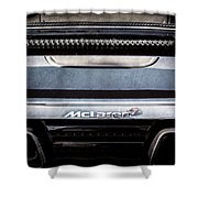 Mclaren 12c Spider Rear Emblem -0106ac Shower Curtain