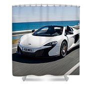 Mclaren 650s Spider Shower Curtain
