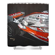 Mclaren F1 Alonso Shower Curtain