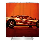 Mclaren F1 1994 Painting Shower Curtain