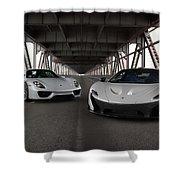 #mclaren #p1 And #porsche #918spyder #print Shower Curtain