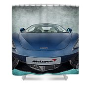 Mclaren Sports Car Shower Curtain