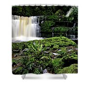 Mclean Falls In Southland New Zealand Shower Curtain