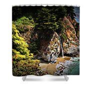 Mcway Falls Painting Shower Curtain