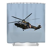 Md State Police Helicopter Shower Curtain
