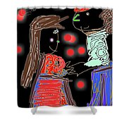 Me And You By Kathy Barney Shower Curtain