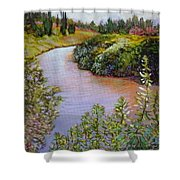 Meadow And Marsh Shower Curtain