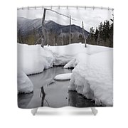 Meadow Brook - White Mountains New Hampshire  Shower Curtain by Erin Paul Donovan
