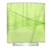 Meadow Computer Graphic Line Pattern Shower Curtain