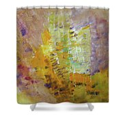 Meadow Flowers Abstract Shower Curtain
