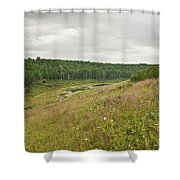Meadow Green Shower Curtain