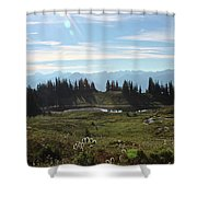 Meadow Mountain View Shower Curtain