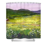 Meadow Of Flowers Shower Curtain