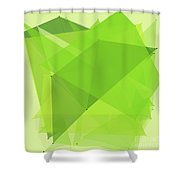 Meadow Polygon Pattern Shower Curtain