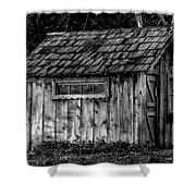 Meadow Shelter - Bw Shower Curtain