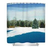 Meadow Snow Shower Curtain
