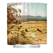 Meadows And Mountains Shower Curtain