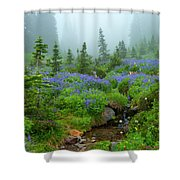 Meadows In The Mist Shower Curtain