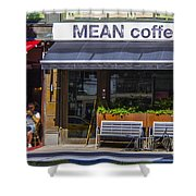 Mean Coffee Shower Curtain