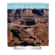 Meander Overlook - Dead Horse Point - Panorama Shower Curtain