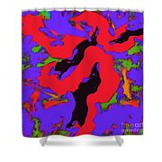 Meander Red Shower Curtain