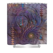 Meandering Acquiescence Shower Curtain