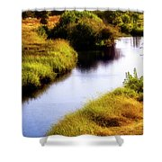 Meandering Channel Shower Curtain