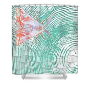 Meandering Moth Shower Curtain