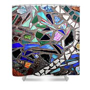 Meandering Path Shower Curtain