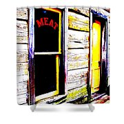 Meat Market Shower Curtain