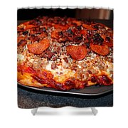 Meat Monster Pizza II Shower Curtain