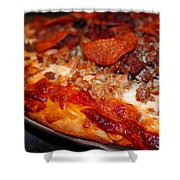 Meat Monster Pizza Shower Curtain