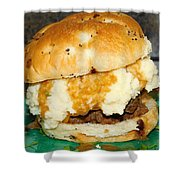 Meatloaf And Mashed Potato Sandwich Shower Curtain